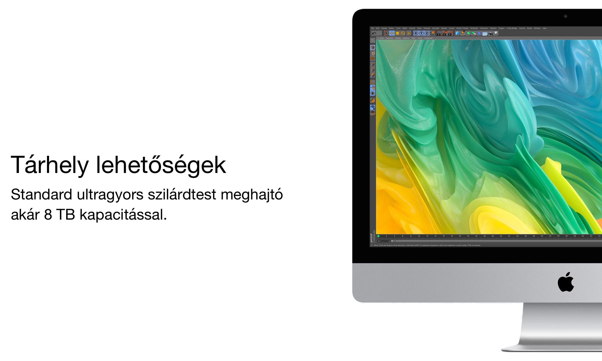 iMac tárhely lehetőségek