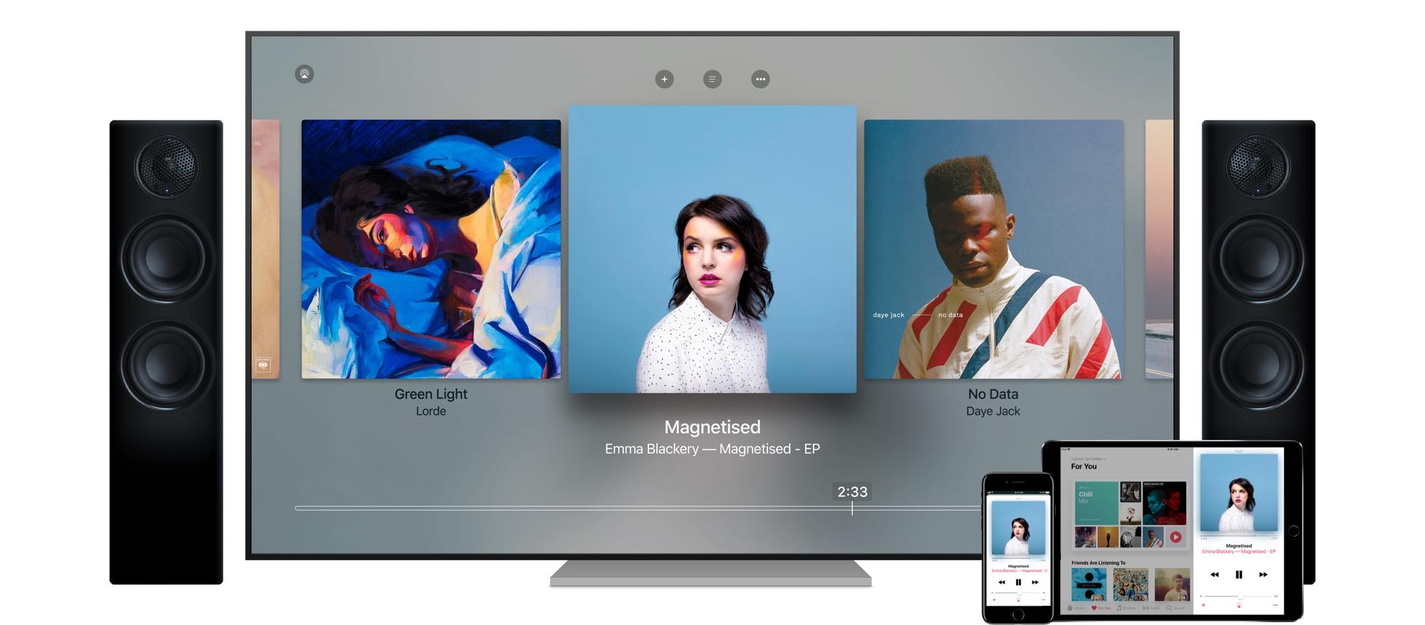 Zenelejátszás az Apple TV-n