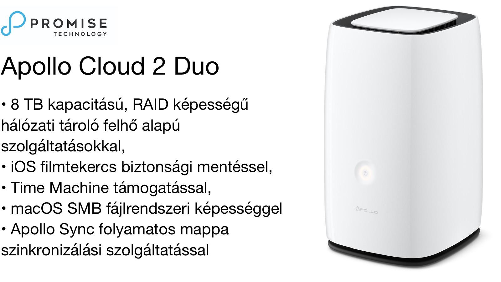Promise Apollo Cloud2DUO 8 TB hálózati tárhely megoldás