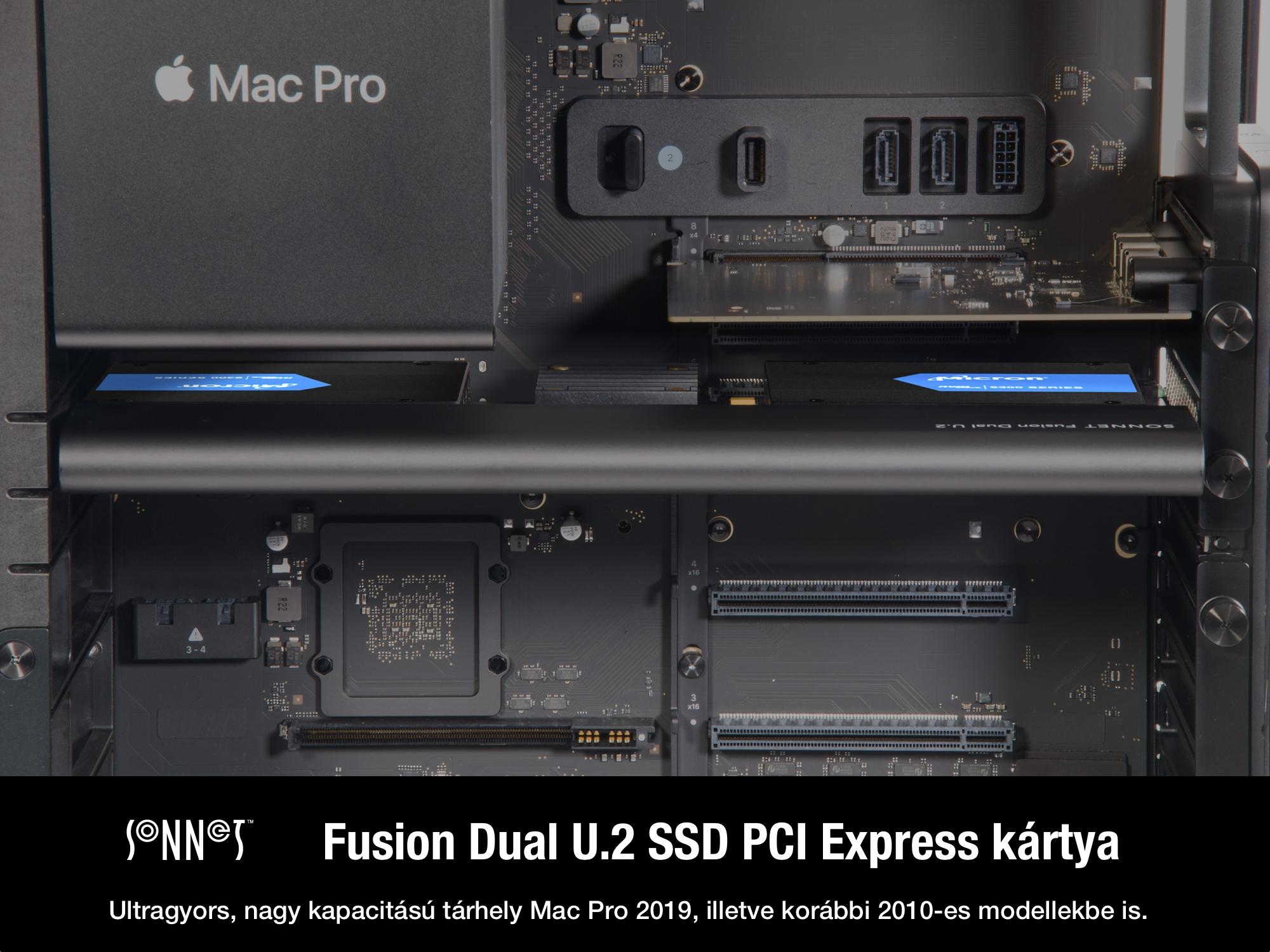 Sonnet Fusion Dual U.2 SSD PCIe Card