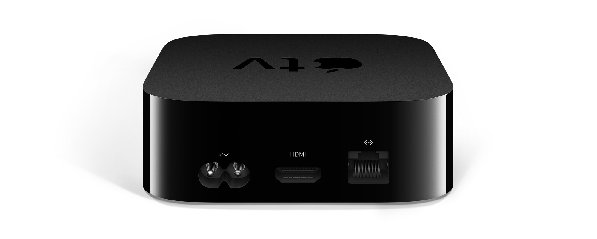 Az Apple TV 4K hátoldala HDMI 2.0 csatlakozóval